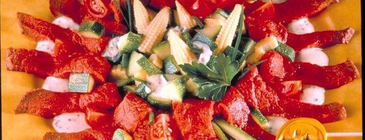 Marguerite de salade au bœuf