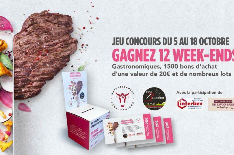 Jeu Concours Aimez la viande, mangez-en mieux dans les boucheries de la Région